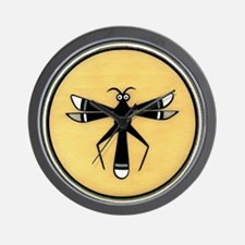 MIMBRES DRAGONFLY BOWL DESIGN Wall Clock