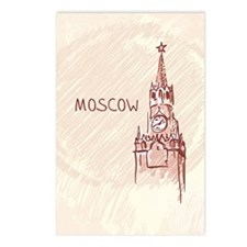 Moscow Postcards (Package of 8)