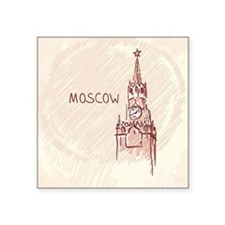 """Moscow Square Sticker 3"""" x 3"""""""