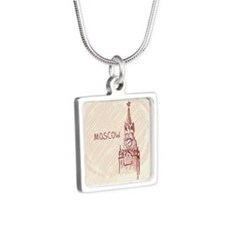 Moscow Silver Square Necklace