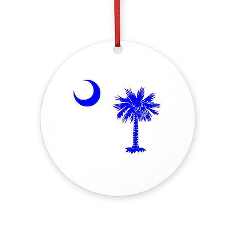 Palmetto and Crescent SC Ornament (Round)