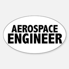Aerospace Engineer Oval Decal