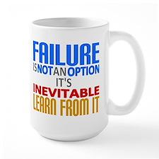 Failure Not Option Learn Mugs