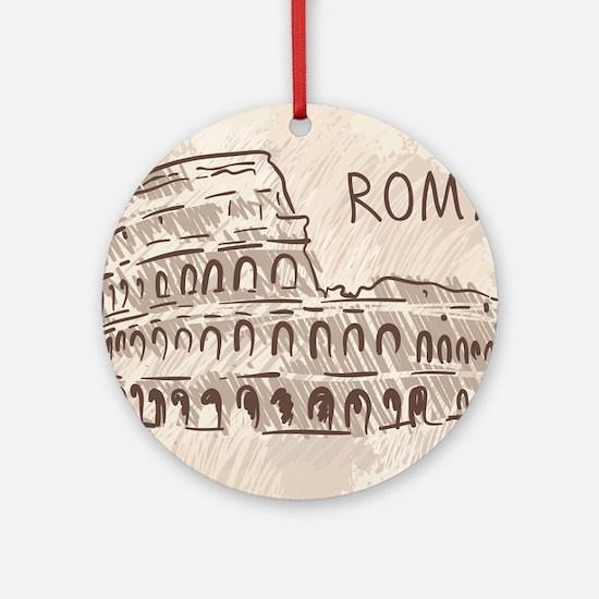Rome Round Ornament