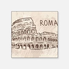 "Rome Square Sticker 3"" x 3"""
