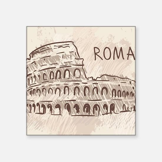 """Rome Square Sticker 3"""" x 3"""""""