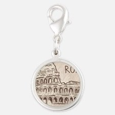 Rome Silver Round Charm