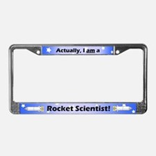 Rocket Scientist License Plate Frame