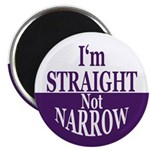 I'm Straight, Not Narrow Magnet (100 pack)