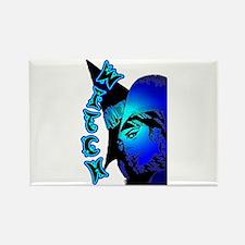 The Goddess Blue Rectangle Magnet