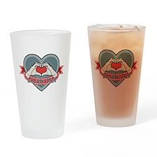 blue heart-Ich liebe Dich– Drinking Glass