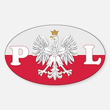 Poland Decal-v1 Oval Decal