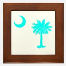 Palmetto and Crescent SC Framed Tile
