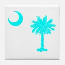 Palmetto and Crescent SC Tile Coaster