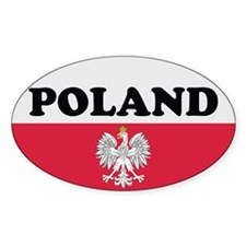 Poland Decal-v3 Oval Decal