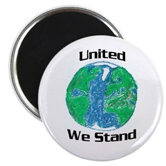 United We Stand on Earth Magnet