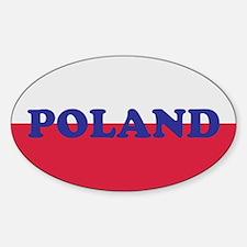 Poland Decal-v5 Oval Decal