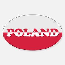 Poland Decal-v7 Oval Decal