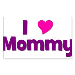 I love (heart) Mommy Rectangle Decal