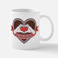 Brown heart-Eu te amo- Mug