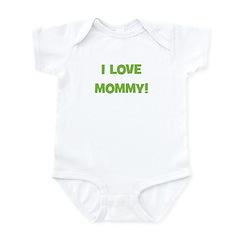 I Love Mommy (green) Infant Bodysuit