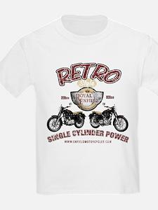 Retro Single Cylinder Power Kids T-Shirt