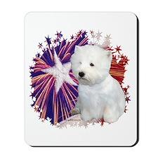 Westie Star Mousepad