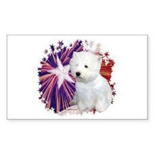 Westie Star Rectangle Decal