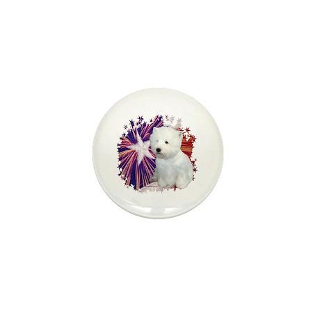 Westie Star Mini Button
