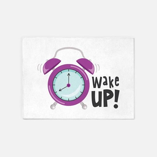 Wake Up! 5'x7'Area Rug