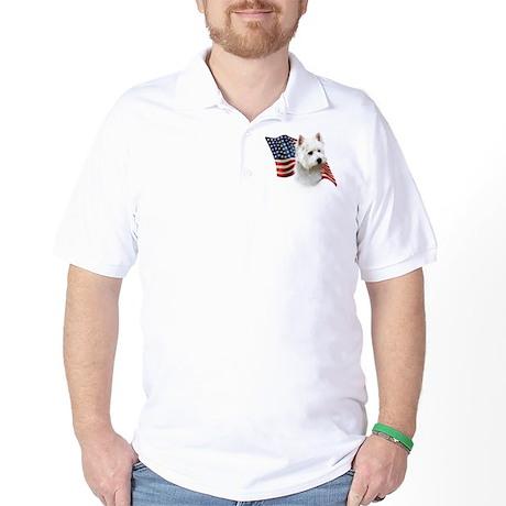Westie Flag Golf Shirt