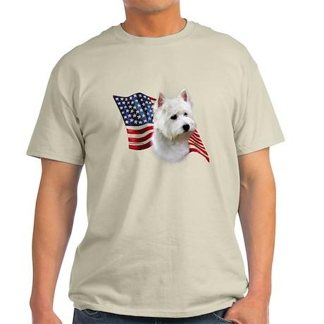 Westie Flag Light T-Shirt
