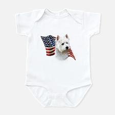 Westie Flag Infant Bodysuit