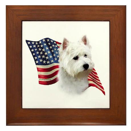 Westie Flag Framed Tile