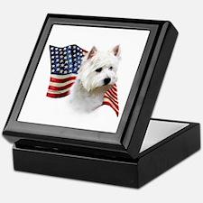 Westie Flag Keepsake Box