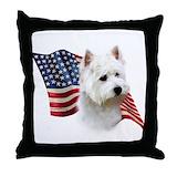 Westie dog Throw Pillows