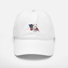 Westie Flag Baseball Baseball Cap