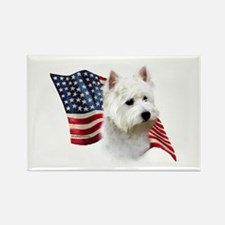 Westie Flag Rectangle Magnet