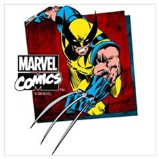 Wolverine Square Wall Art Poster