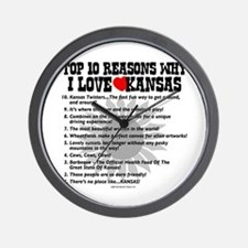 Why I Love Kansas! Wall Clock