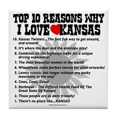 Why I Love Kansas! Tile Coaster