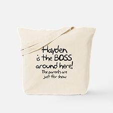 Hayden is the Boss Tote Bag