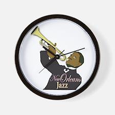 New Orlean's Jazz Wall Clock