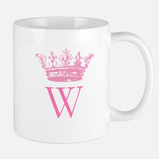 Vintage Crown Monogram Mugs