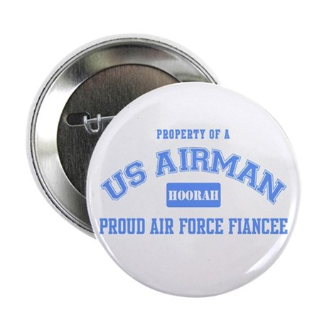 Proud Air Force Fiance Button