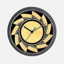 MIMBRES WHEEL BOWL DESIGN Wall Clock