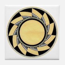 MIMBRES WHEEL BOWL DESIGN Tile Coaster