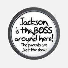 Jackson is the Boss Wall Clock