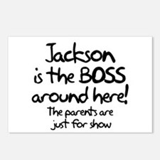 Jackson is the Boss Postcards (Package of 8)