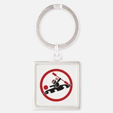 Pitch Ninjas 10x10 circled Square Keychain